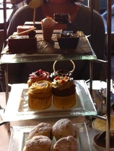 Afternoon tea at the Podium, Hilton Park Lane