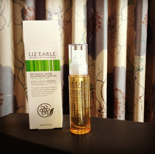 Hair oil by Liz Earle