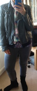 All Saints Biker jacket and Uniqlo bits and bobs